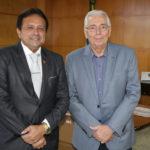 Presidente do TCE recebe superintendente do Banco do Nordeste