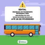 Prefeitura de Socorro abre inscrições para o Programa de Transporte Estudantil