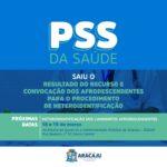 Prefeitura de Aracaju divulga resultado dos recursos do PSS da Saúde e convoca para heteroidentificação